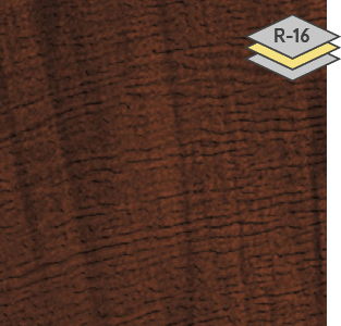 American Walnut colour for steel Garaga garage doors