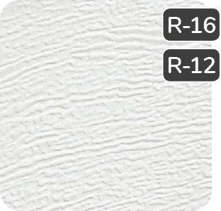 White colour for steel Garaga garage doors R16-R12
