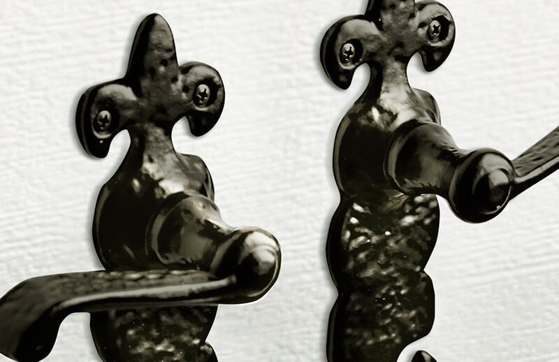 Decorative hardware - Handmade wrought iron texture