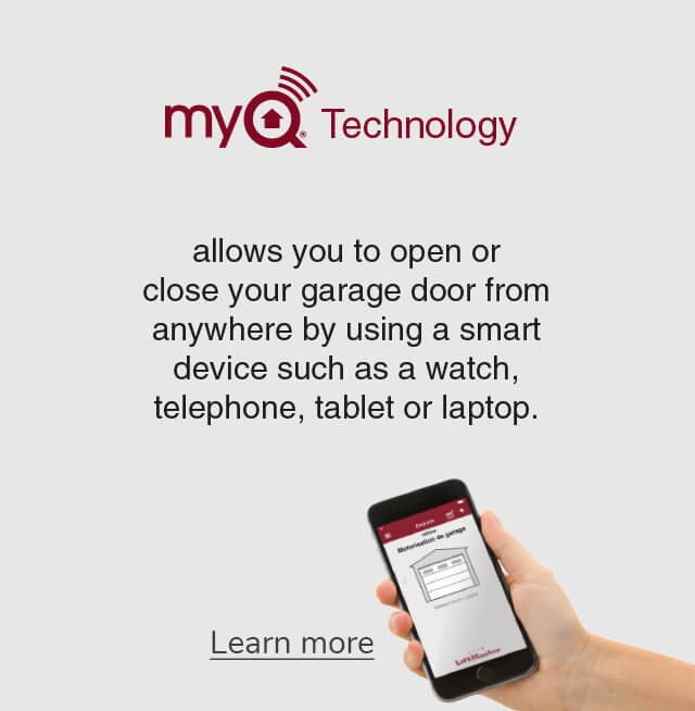 MyQ Technology for greater control and security of your home