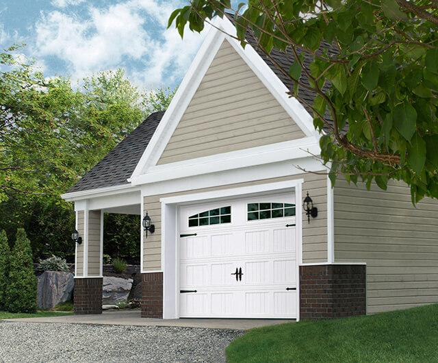 Regal Shaker-CS Court, 9' x 7', Blanc doux, fenêtres avec Applique Arche Stockton Double