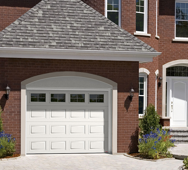 Simple Traditional Style garage door with the H-Tech Classic CC design in the White color