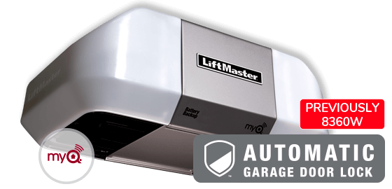 Model 8360WLB with automatic garage door lock