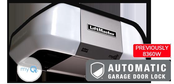 Model 8360WLB with automatic garage door lock