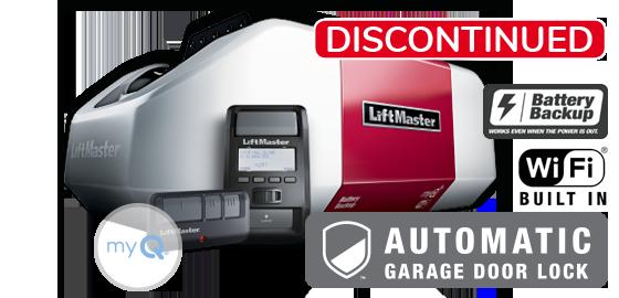 Model 8550W with automatic garage door lock