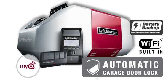 Model 8550W with automatic garage door lock