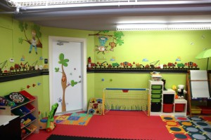 Create a playroom in your garage