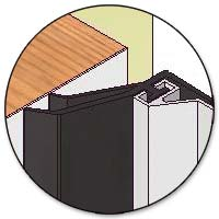 Residential garage door thermal break features