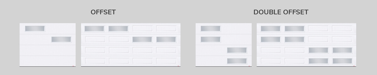 Window layout: Offset and window layout: Double Offset