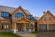 House with garage doors