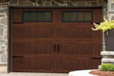 How to Stain a Metal Garage Door to Give it a Faux Woodgrain Finish