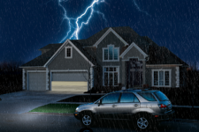 How can I open my garage door if there is a power outage?