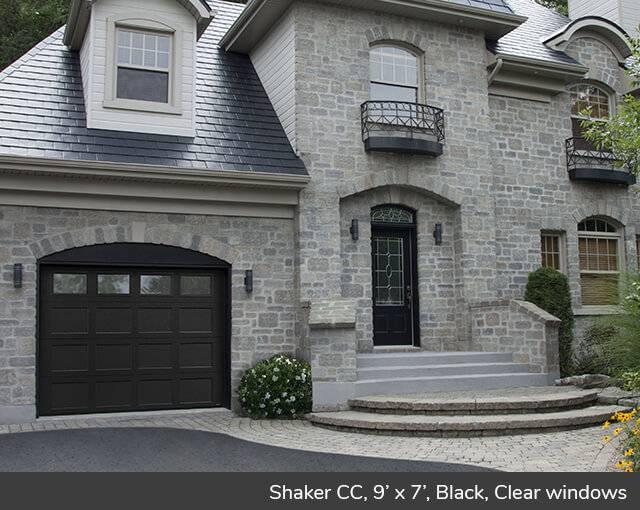 Shaker CC 9u0027 X 7u0027 Black Clear Windows