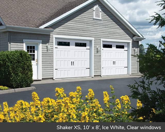 Shaker Xs 10 X 8 Ice White Clear Windows