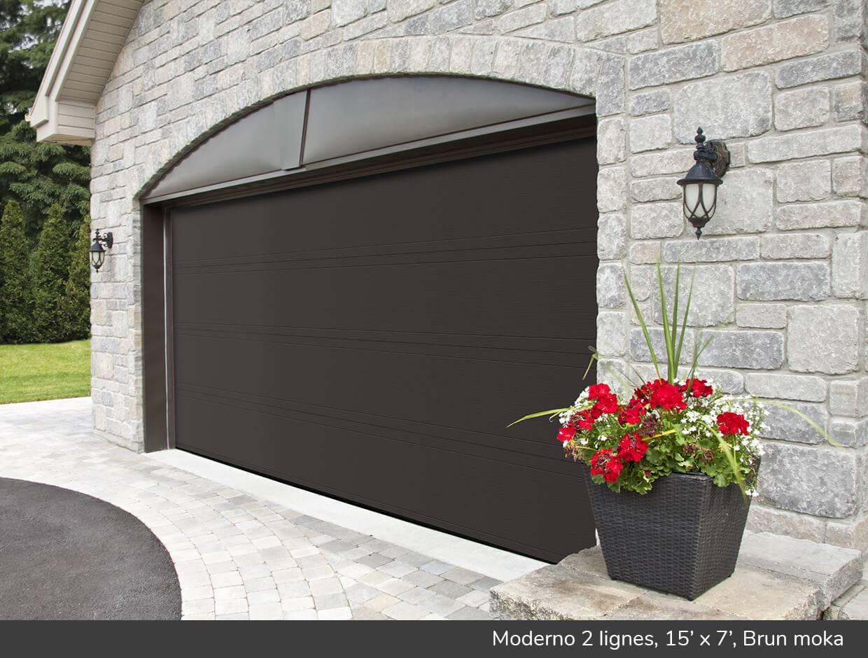 Moderno 2 lignes portes de garage r sidentielles garaga for Porte de garage 2 40 x 2 15