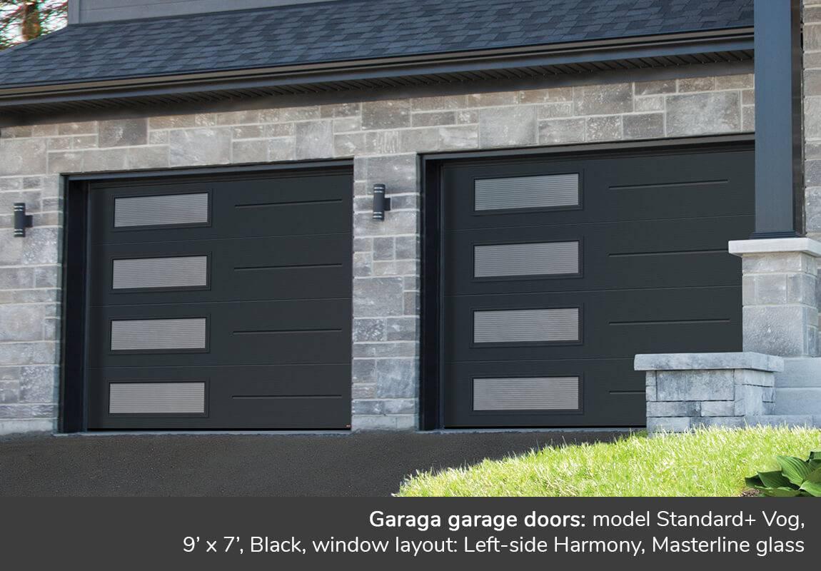 Masterline windows garage doors garaga novatech - Garage door window panels ...