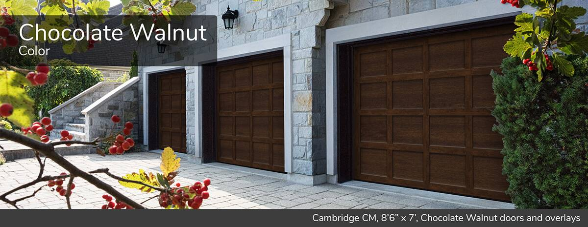 "Cambridge CM, 8'6"" x 7', Chocolate Walnut door and overlays"