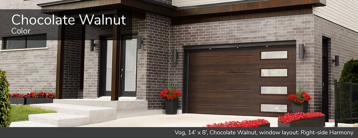 Vog, 14' x 8', Chocolate Walnut, window layout: Right-side Harmony