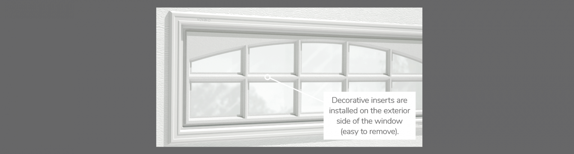 "Cascade Decorative Insert, 41"" x 16"", available for door 3 layers - Polystyrene, 2 layers - Polystyrene and Non-insulated"