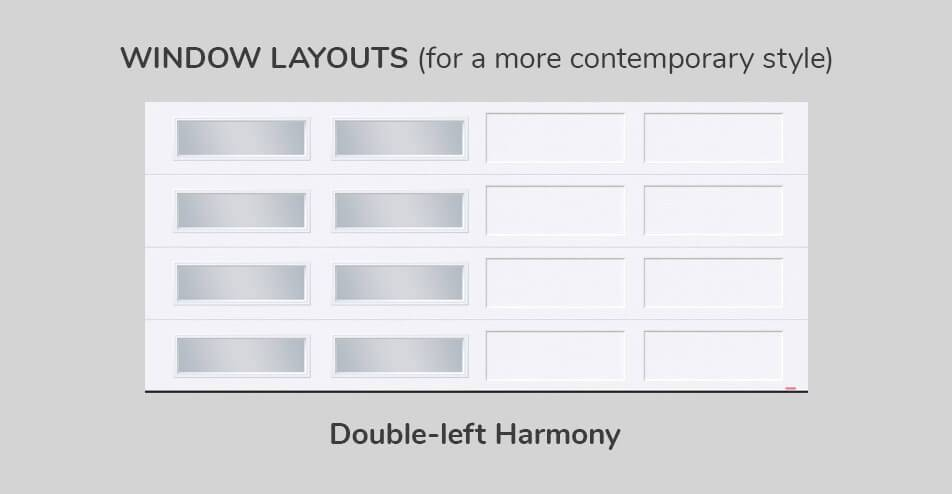 Window layouts, 16' x 7', Double-Left Harmony