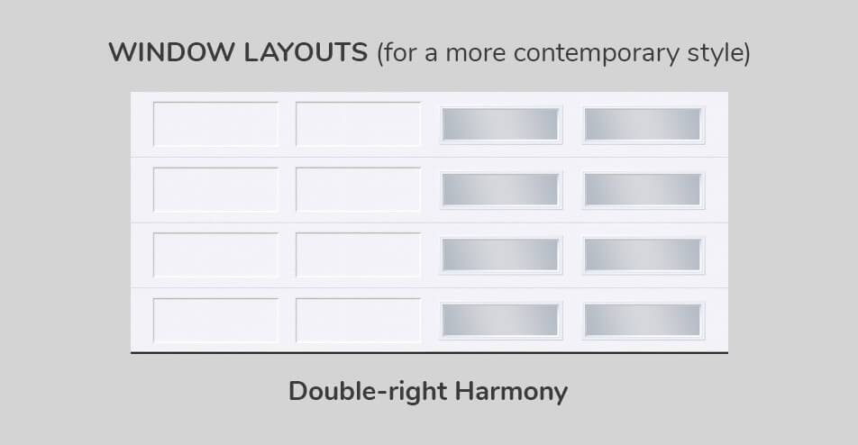 Window layouts, 16' x 7', Double-Right Harmony