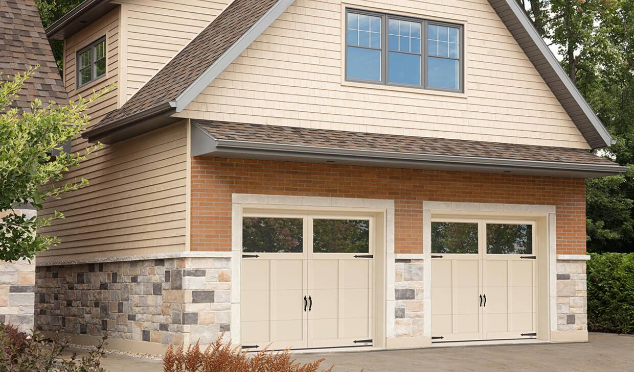 Princeton P-12, 9' x 7', Desert Sand doors and overlays, Clear Panoramic windows