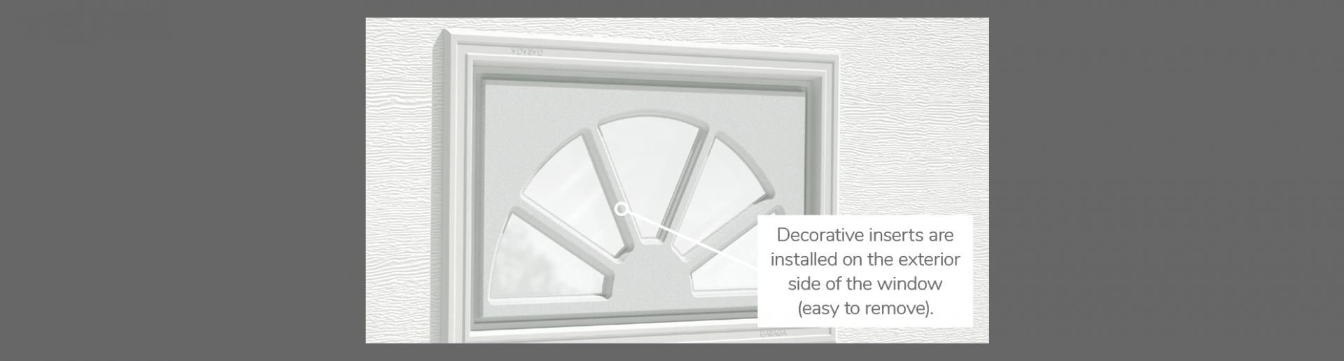 Sherwood Decorative Insert, 21' x 13', available for door R-16