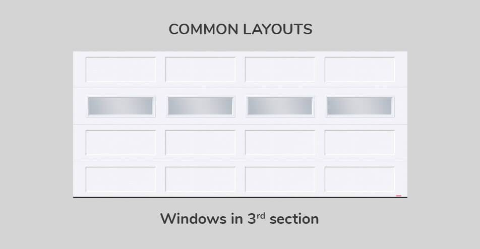 Common layouts, 16' x 7', Windows in third section