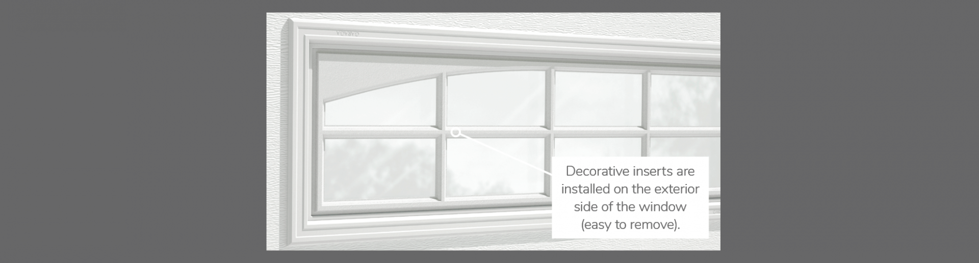 "Double Stockton Arch Decorative Insert, 40"" x 13"", available for door R-16"