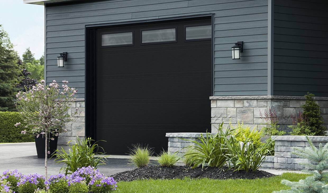 "Standard+ Moderno 2 beads, 12' 6"" x 9', Black, Azur windows"