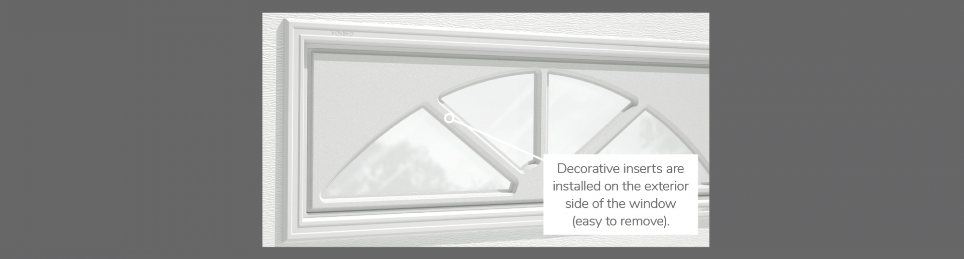 "Sherwood Decorative Insert, 40"" x 13"", available for door R-16 and R-12"