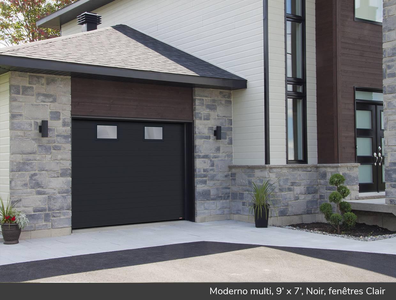 Moderno multi portes de garage r sidentielles garaga for Isolation gratuite garage