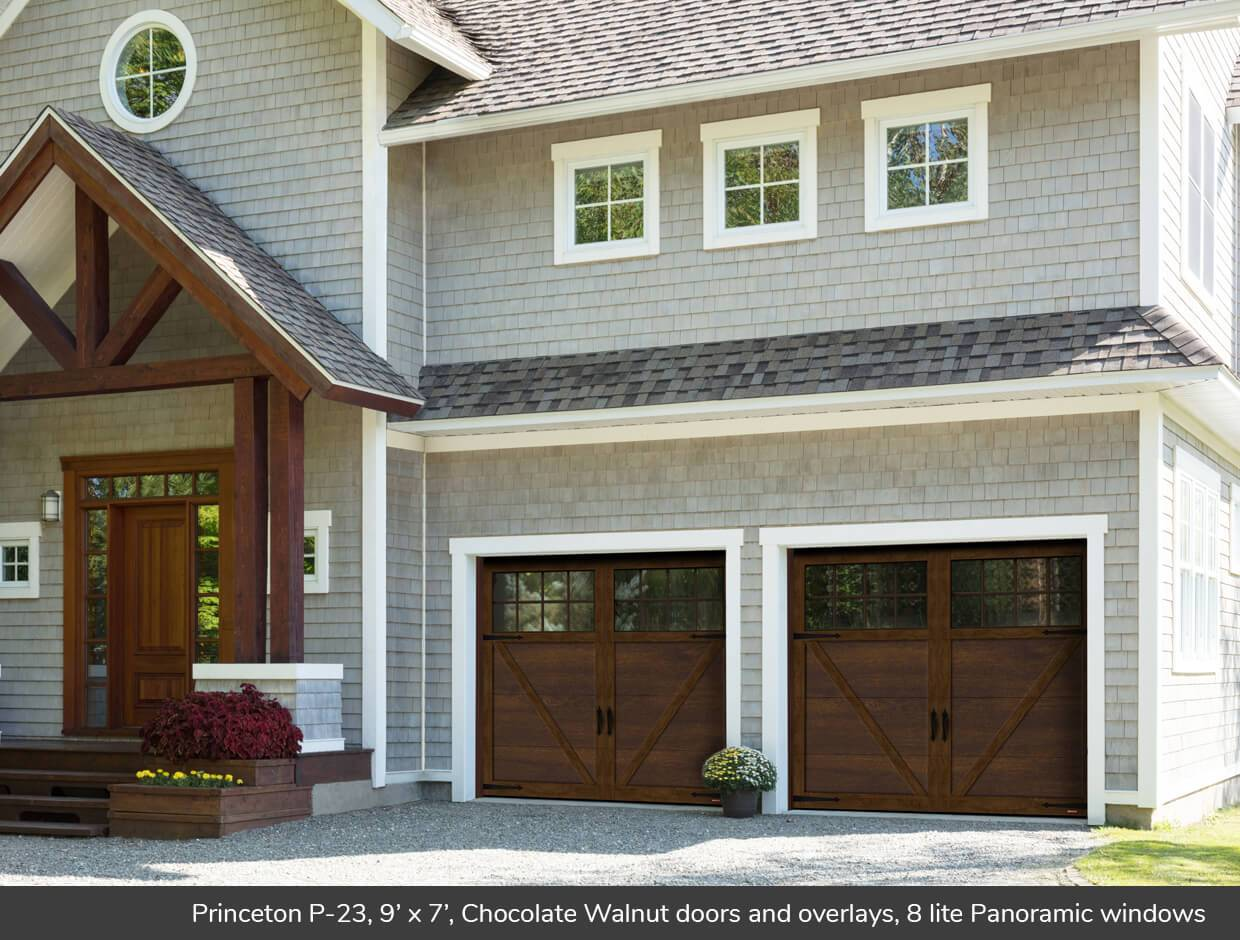 Exceptionnel Princeton P 23, 9u0027 X 7u0027, Chocolate Walnut Doors And Overlays