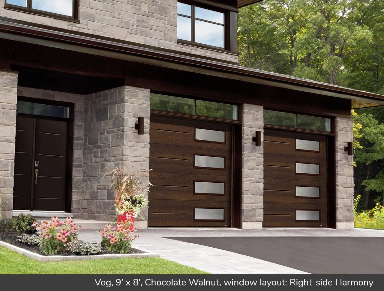 Vog design from garaga garage doors for Garage door design