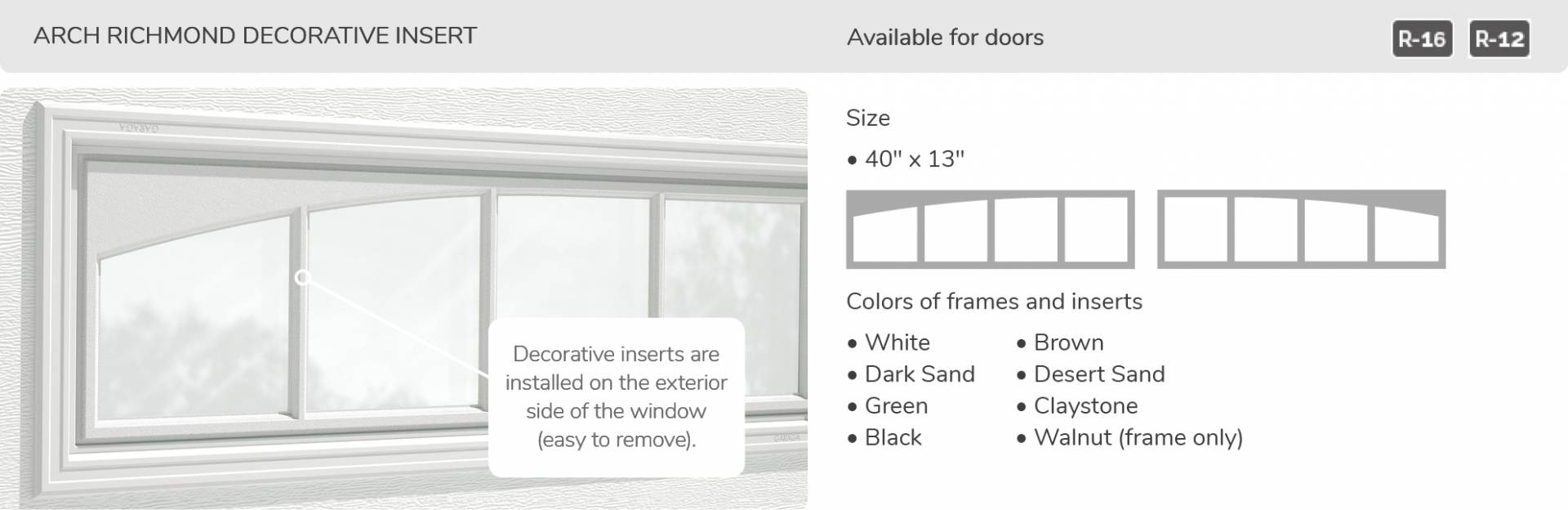 North hatley lp design from garaga garage doors for Best r value windows