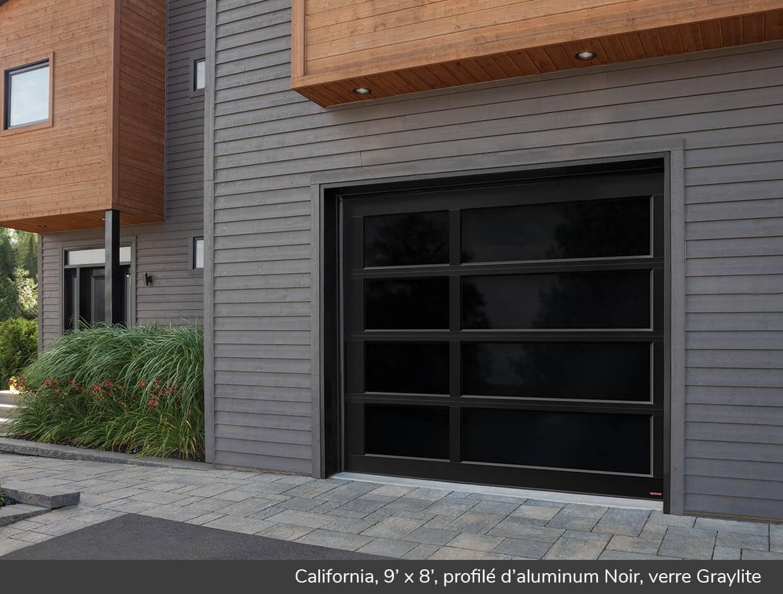 California portes de garage r sidentielles garaga - Porte de garage noir ...