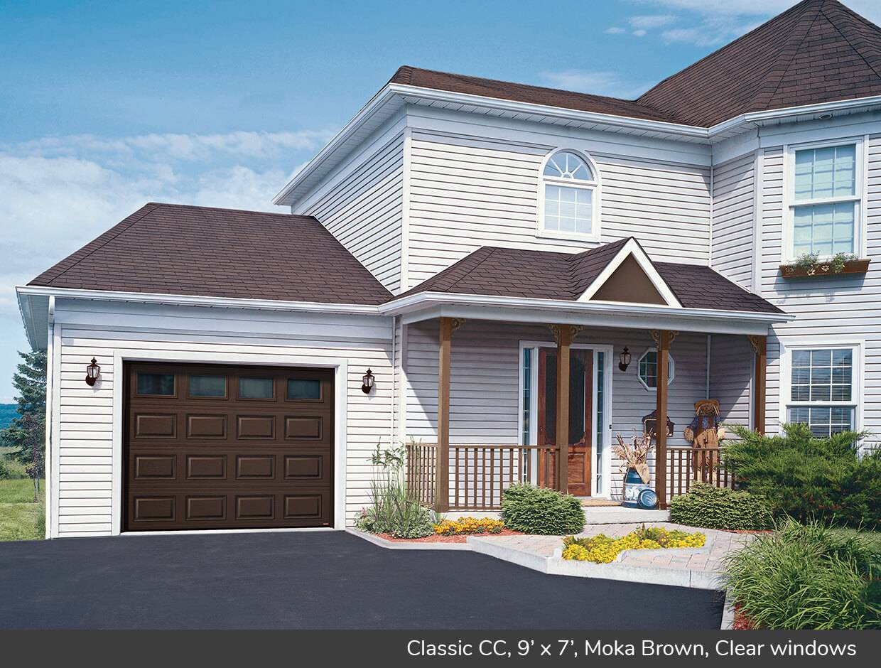 Classic CC, 9' x 7', Moka Brown, Clear windows