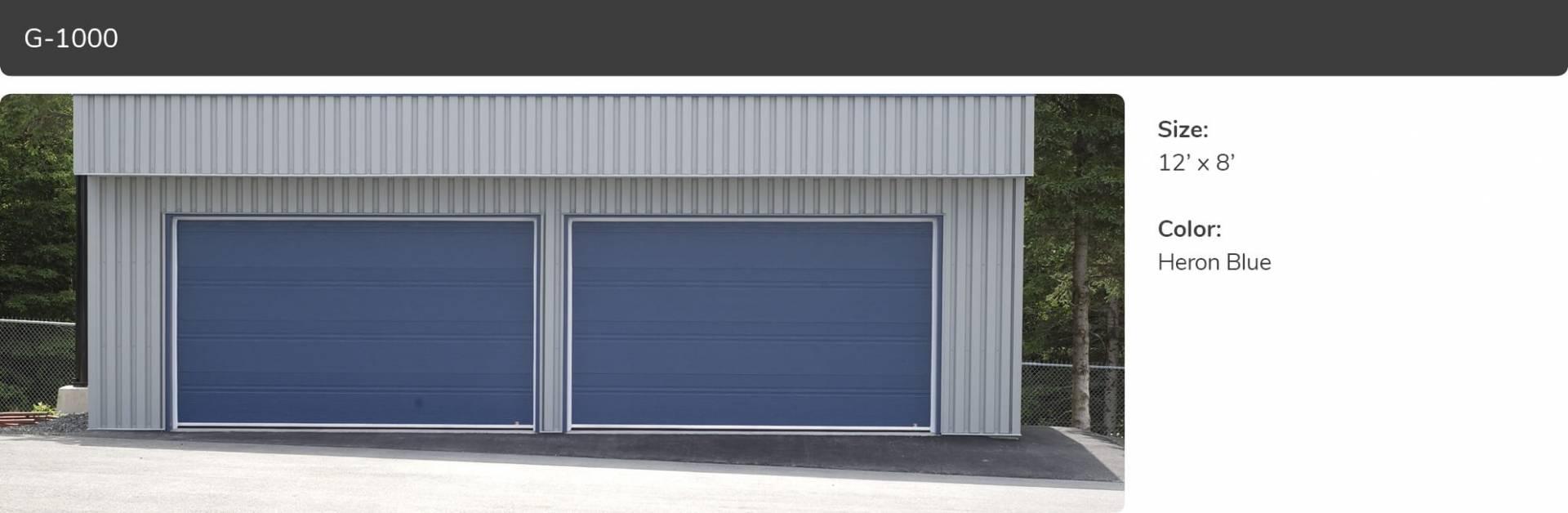 G 1000 commercial garage door manufacturer garaga g 1000 12 x 8 heron blue rubansaba