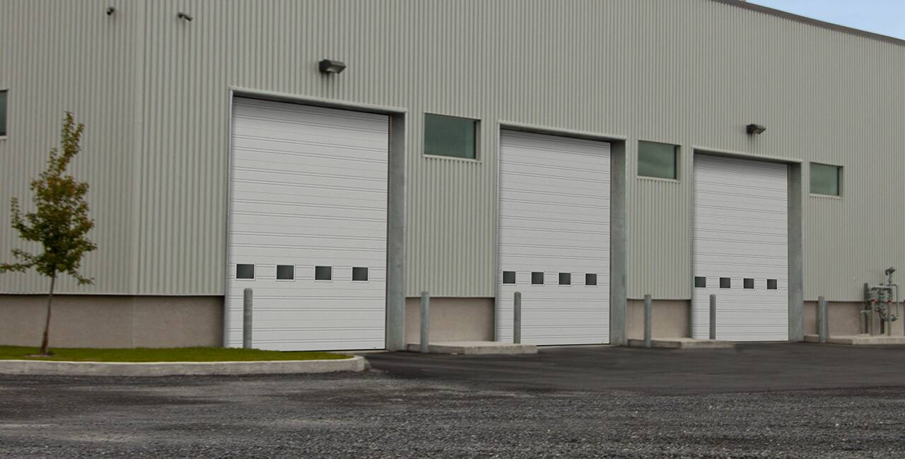 G-2020 doors, 16' x 16', Tex White