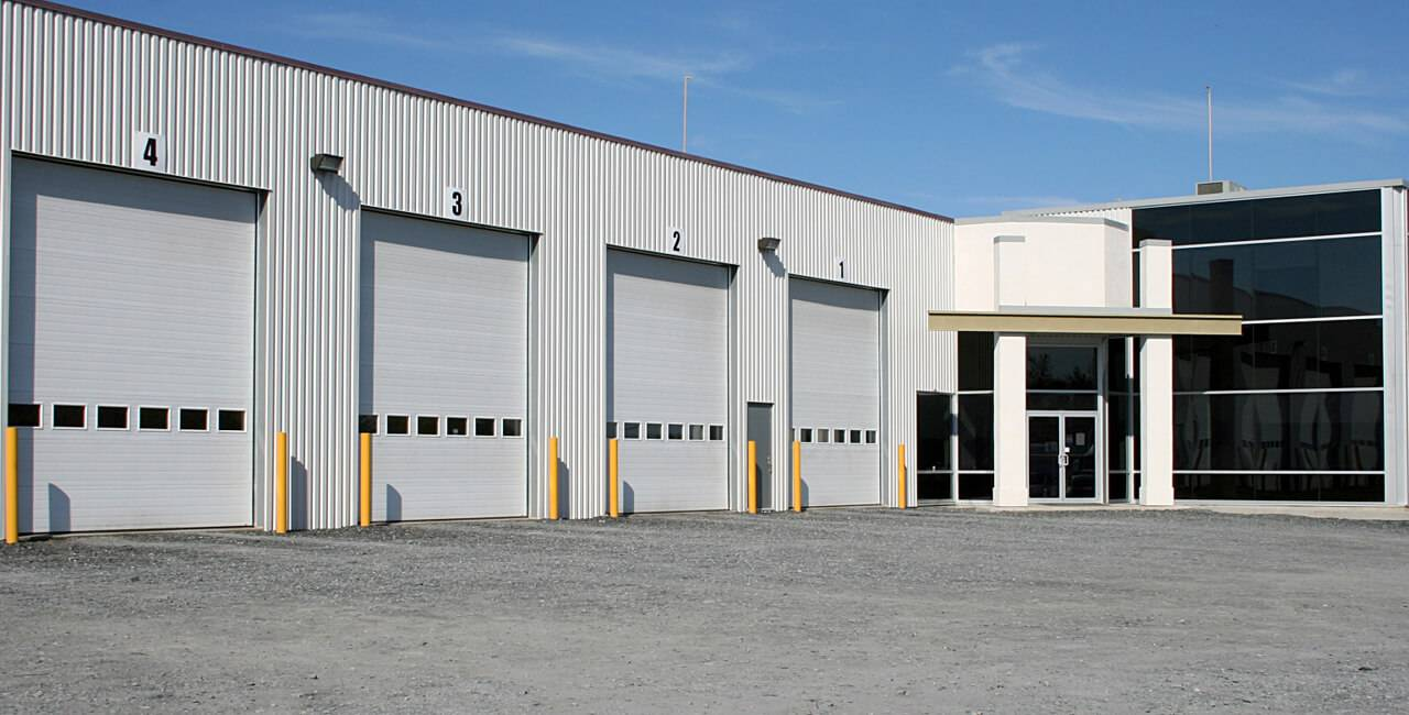 G-5000 doors, 14' x 16', Ice White