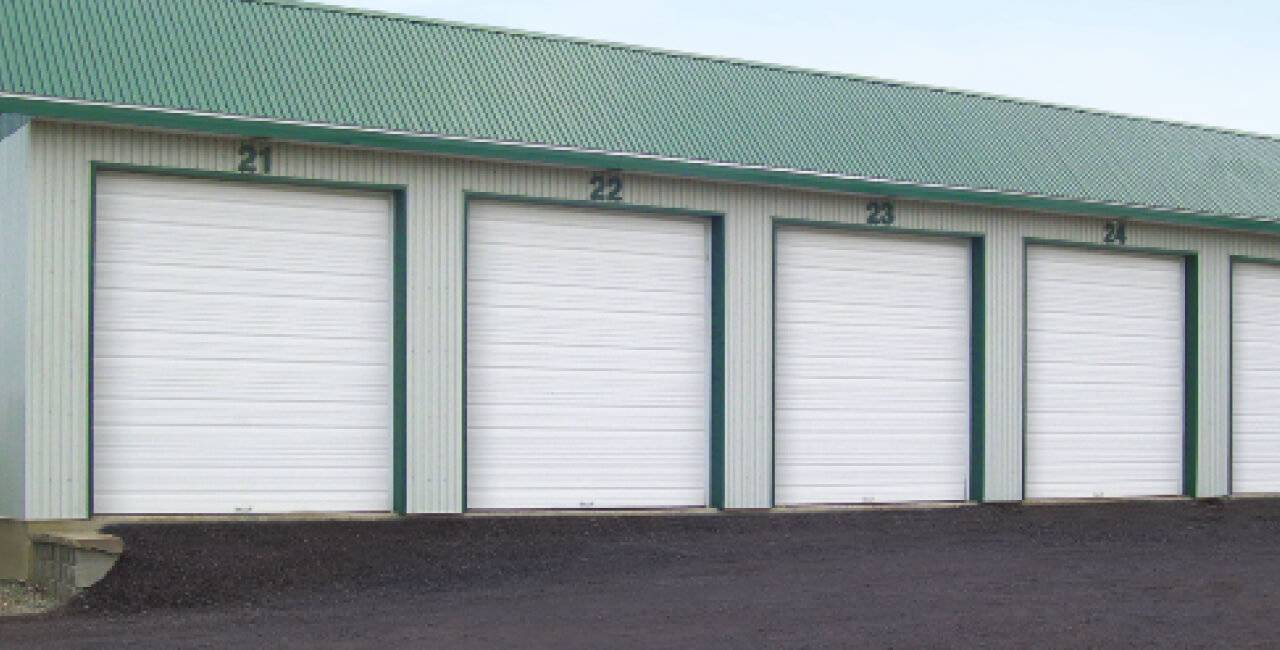 TG-8024 doors, 10' x 10', Ice White