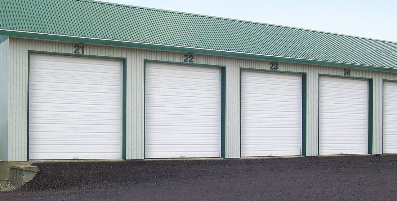 S-24 doors, 10' x 10', Ice White