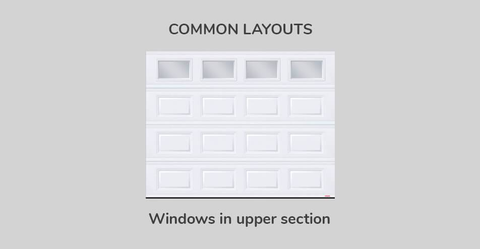 Common layouts - Windows in upper section