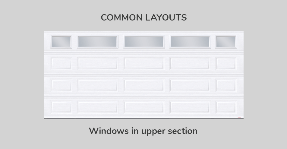Common layouts, 16' x 7', Windows in upper section