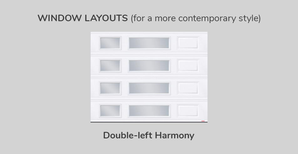 Window layouts, 9' x 7', Double-left Harmony