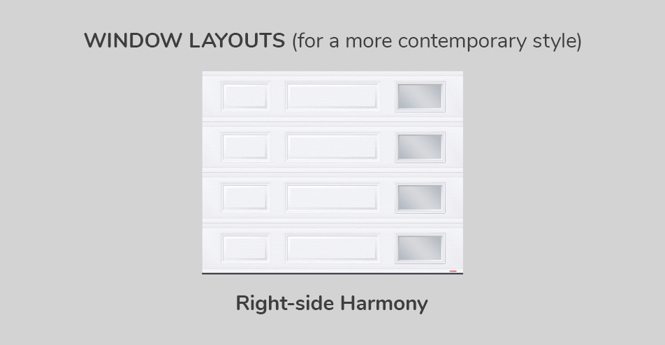 Window layouts, 9' x 7', Right-side Harmony