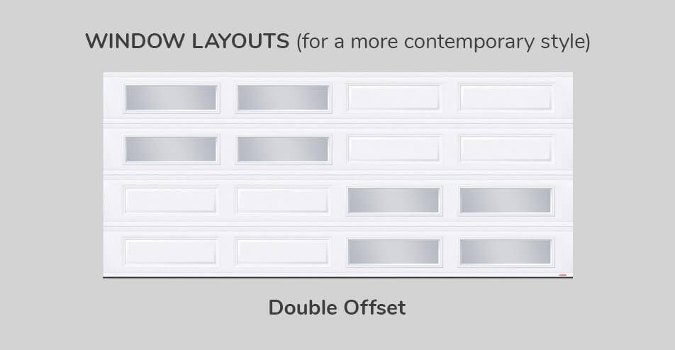 Window layouts, 16' x 7', Double Offset