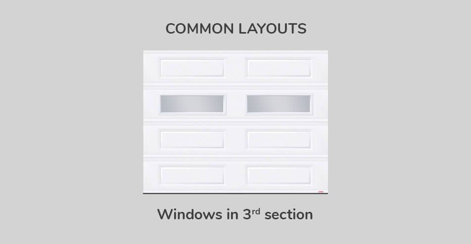 Common layouts, 9' x 7', Windows in third section