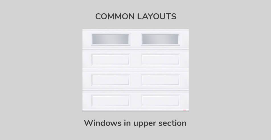 Common layouts, 9' x 7', Windows in upper section