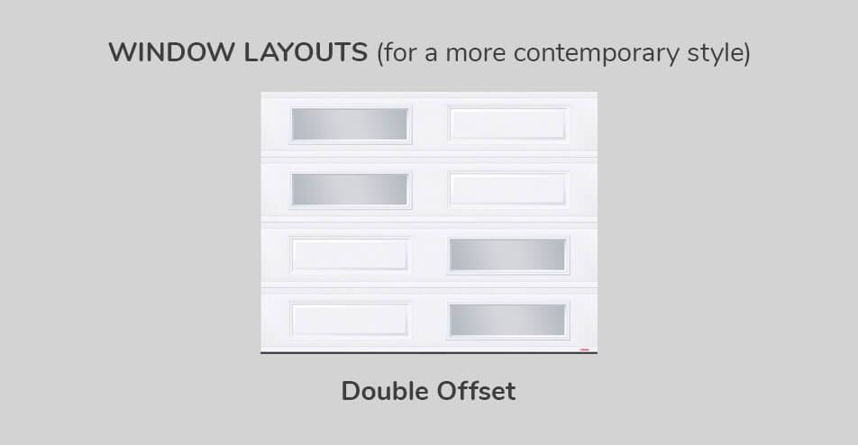Window layouts, 9' x 7', Double Offset